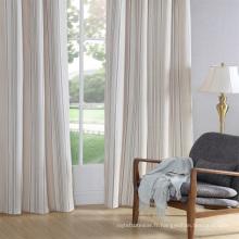 Rideau de tissu en porcelaine, panneau rideau en toile à carreaux, rideau géométrique
