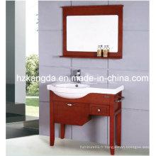Cabinet de salle de bain en bois massif / vanité de salle de bain en bois massif (KD-429)