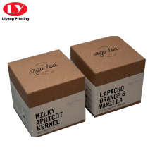 Kraft Paper Tea Packaging Box dengan Lengan
