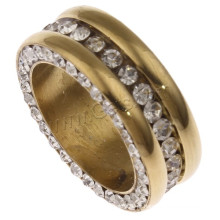 Gets.com 2015 moda em aço inoxidável mais recente anel de dedo de ouro design