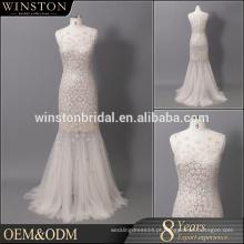 Fábrica de China profissional champanhe barato vestidos de dama de honra