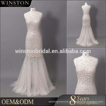 Профессиональная фабрика Китая шампанское дешевые платья невесты