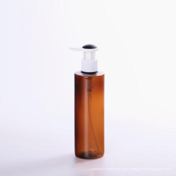 Garrafa de bomba de plástico loção marrom para cosméticos (NB20003)