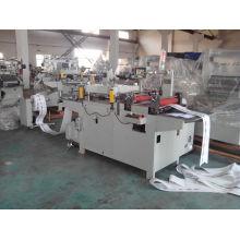 Máquina cortando da etiqueta da folha de alumínio com corte direto e corte do beijo