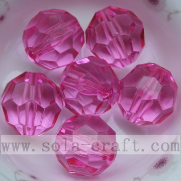 Transparent acrylic round 32 facets diamond beads spacer beads