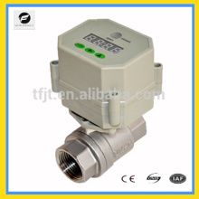 Warm electrical operated plug valve with prepaid Card for HVAC and heating system