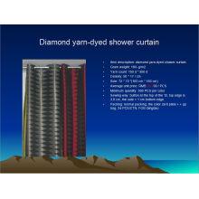 Cortina para ducha teñida con hilo de diamante St1807