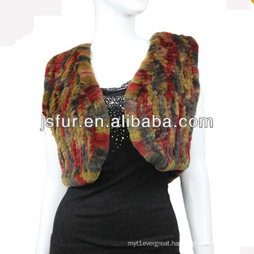 2013 new product lovely colorful rabbit fur women shawl