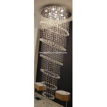 Hotel hecho a la medida para la lámpara del techo del proyecto de la escalera K9 Gran lámpara cristalina