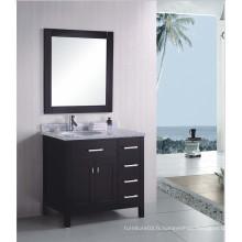 Meubles de salle de bains en bois à la mode avec des éviers américains