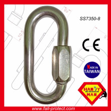 Crochet de liaison rapide en acier inoxydable 30kN 30KN certifié CE