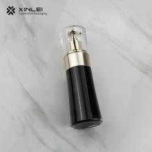 Bouteille de lotion d'emballage cosmétique acrylique noire avec pompe