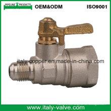 Válvula de gas forjada de latón de calidad personalizada (AV1029)