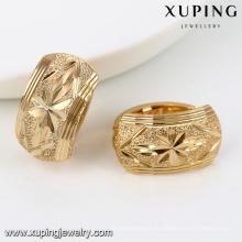92044-Xuping Jewelry Fashion último diseño 18K oro plateó el pendiente del aro