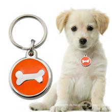 Niedlicher Hundeknochen benutzerdefinierte Form Hundemarke