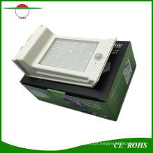 Nova Chegada Atualizado Preço Competitivo 20LED Luz Solar Da Parede PIR Sensor de Movimento Lâmpada Do Jardim Solar Dim Light com Bateria Substituível