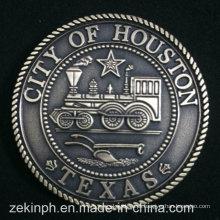 Personalizado nos estado do Texas lembrança moedas de metal