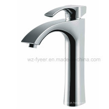 Faucet de lavatório de bacia com bico de cabeça única de corpo alto (Q3035H)