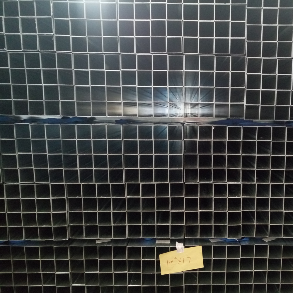New material ms square rectangular tube 100x100 ms square pipe price