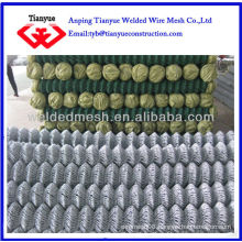 galvanized and PVC coated coated chain link fence