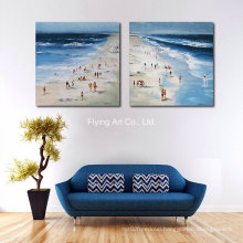 Oil Painting with View of Seaside for Decoration