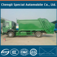 Compactador de 18 yardas 4X2 Rhd tipo camión de basura de HOWO Sinotruk