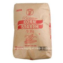 Amidon de pomme de terre, sac de soupape en papier Kraft d'amidon de pomme de terre 25kg