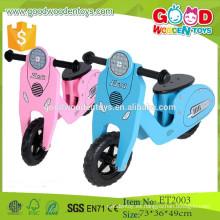 2015 Los nuevos productos forman el diseño encantador 2 rueda la vespa de madera del empuje para la venta