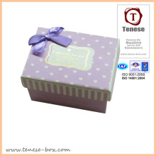 Cardboard Packaging Box /Delicate Gift Box with Ribbon