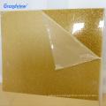 Customized size decoration 3mm plexiglass glitter gold sparkle sheet