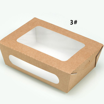 Food Grade Take Away Kraft Cajas para ensalada