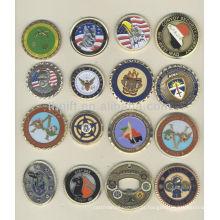 Moeda comemorativa de metal promocional, moeda de lembrança com forma redonda