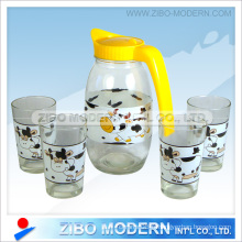Ensemble bouteille à jus de verre (GA6084)