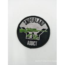 Badge tissé promotionnel de patch brodé
