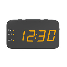 Novo Portátil Mini Relógio Despertador Digital Rádio USB Recarregável Vermelho LED Dual Alarm Radio Clock