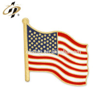 Hot selling custom USA Flag Cloisonne Hard Enamel brooch pins