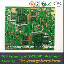 SSB para teléfono (chapado en oro con aceite de carbono) tablero del pcb del teléfono móvil