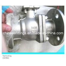 Válvula de bola de control manual de acero fundido DIN