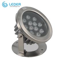 Lampe de piscine LED 12W étanche en acier inoxydable LEDER