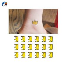Kundenspezifische Krone Tattoo Designs Aufkleber mit Großhandelspreis