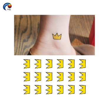 Customized crown tattoo designs stickers with wholesale price
