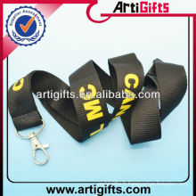 Promotional custom thick lanyard with metal hook