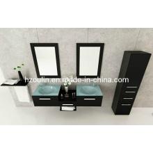 Tocador de baño de vidrio fregadero (BA-1118)