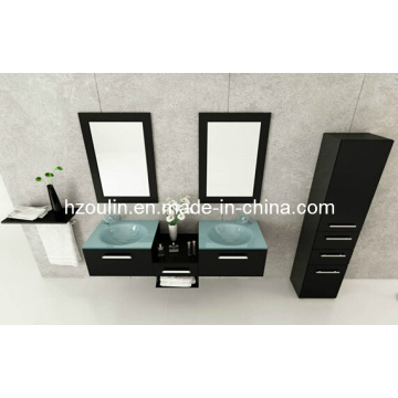 Glass Sink Bathroom Vanity (BA-1118)
