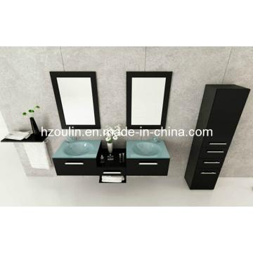 Glass Sink Bathroom Vanity (BA-1118)