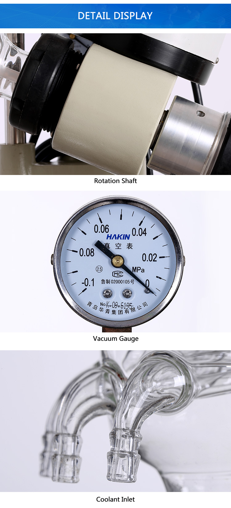 Small lab vacuum distillation unit rotary evaporator