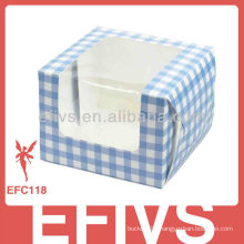 2013 Romantic grid cake box packaging suppliers