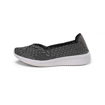 Old Silver Upper Lightweight Insole Casual Woven Pumps