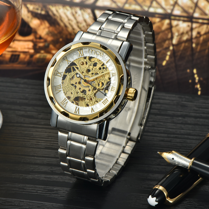 custom best brands gold plated case wrist watch