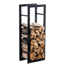 Abnehmbares Lagerregal Metall-Brennholzregal für den Innenbereich